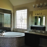 ft collins custom bathroom stained glass